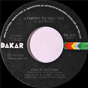 Chuck Jackson - I Forgot To Tell You / The Man & The Woman (The Boy & The Girl) Album